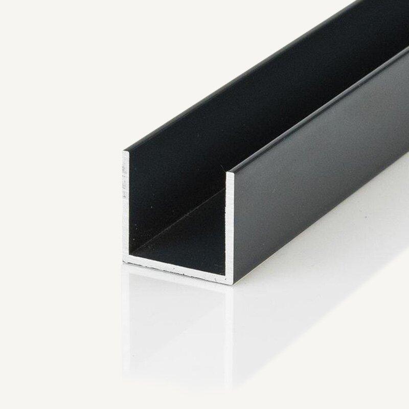 alu u profil 20 0 x 60 0 x 2 0 pulverbeschichtet. Black Bedroom Furniture Sets. Home Design Ideas